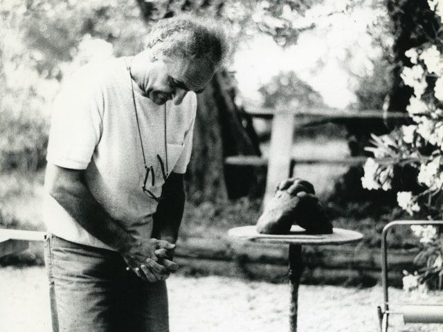 Fot. Hans Spinner, Eduardo Chillida Grasse 1984