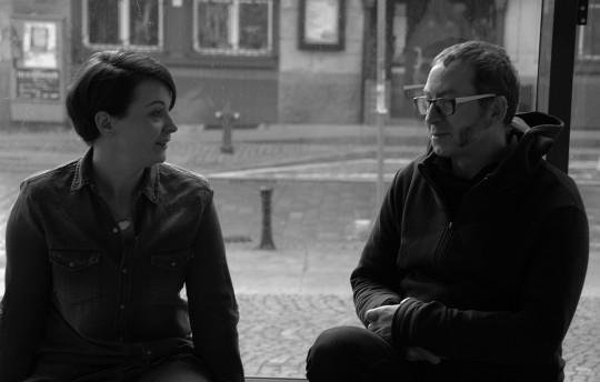 Rozmawiają Hanna Krzyżosiak, Paweł Lisek, fot. Agnieszka Czeleń (źródło: dzięki uprzejmości autorki tekstu)